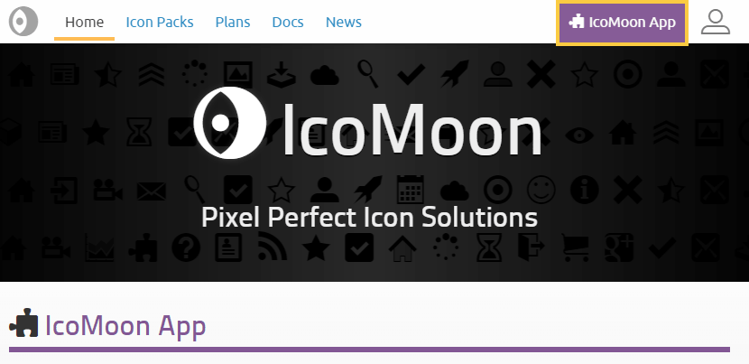 IcoMoon:エディタ