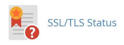 cPanel > セキュリティ > SSL/TLS Status
